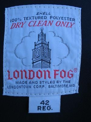 LONDON FOG MENS LINED ALL WEATHER COAT SZ 42 REG MAN