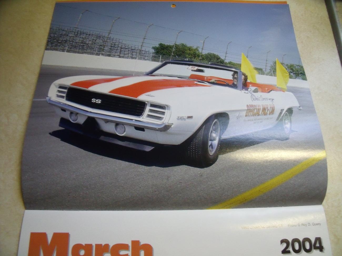 2004 NAPA Automobile Themed Calendar