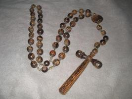 Solid Wood Bead Wall Catholic Holy Rosary Wooden - $25.00