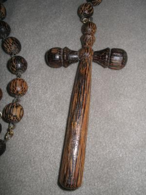Solid Wood Bead Wall Catholic Holy Rosary Wooden