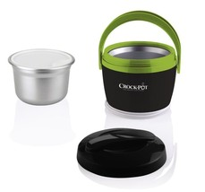 Food Warmer Lunch Container 20oz Crock Pot Warming Office Travel w/ Carr... - $38.58