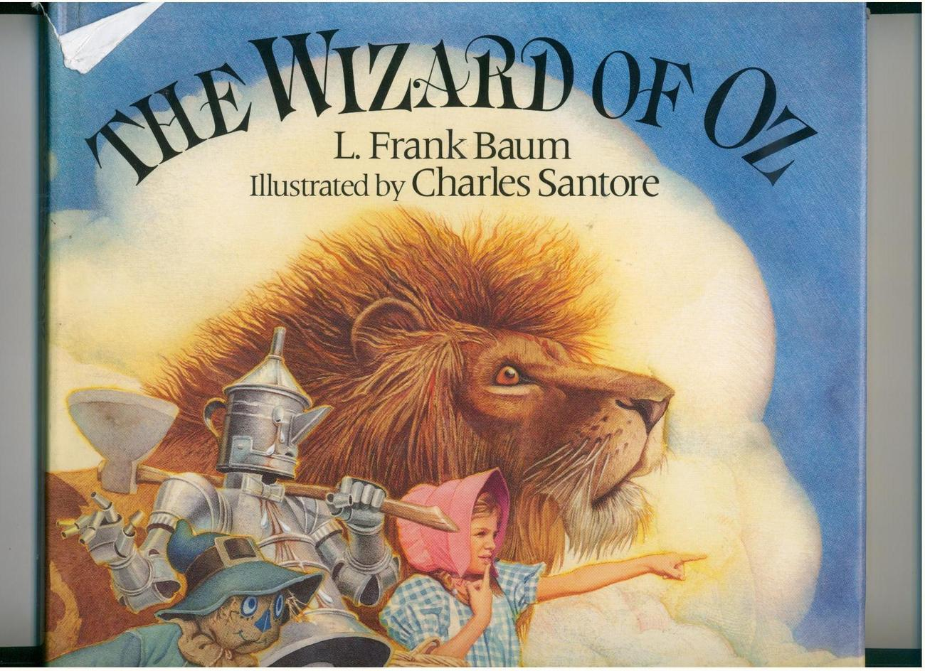 Baum - WIZARD OF OZ - large 1991 ed. - Charles Santore illos