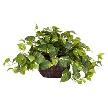 Nearly Natural 6681 Pothos with Vase Decorative Silk Plant, Green - $87.82 CAD