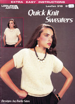 QUICK KNIT SWEATERS BY DARLA SIMS LEISURE ARTS 318 - $2.50