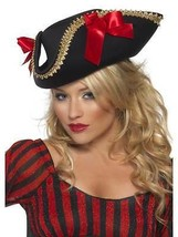 FEVER PIRATE HAT, BLACK, FANCY DRESS, PIRATES, ONE SIZE, WOMENS - $11.75