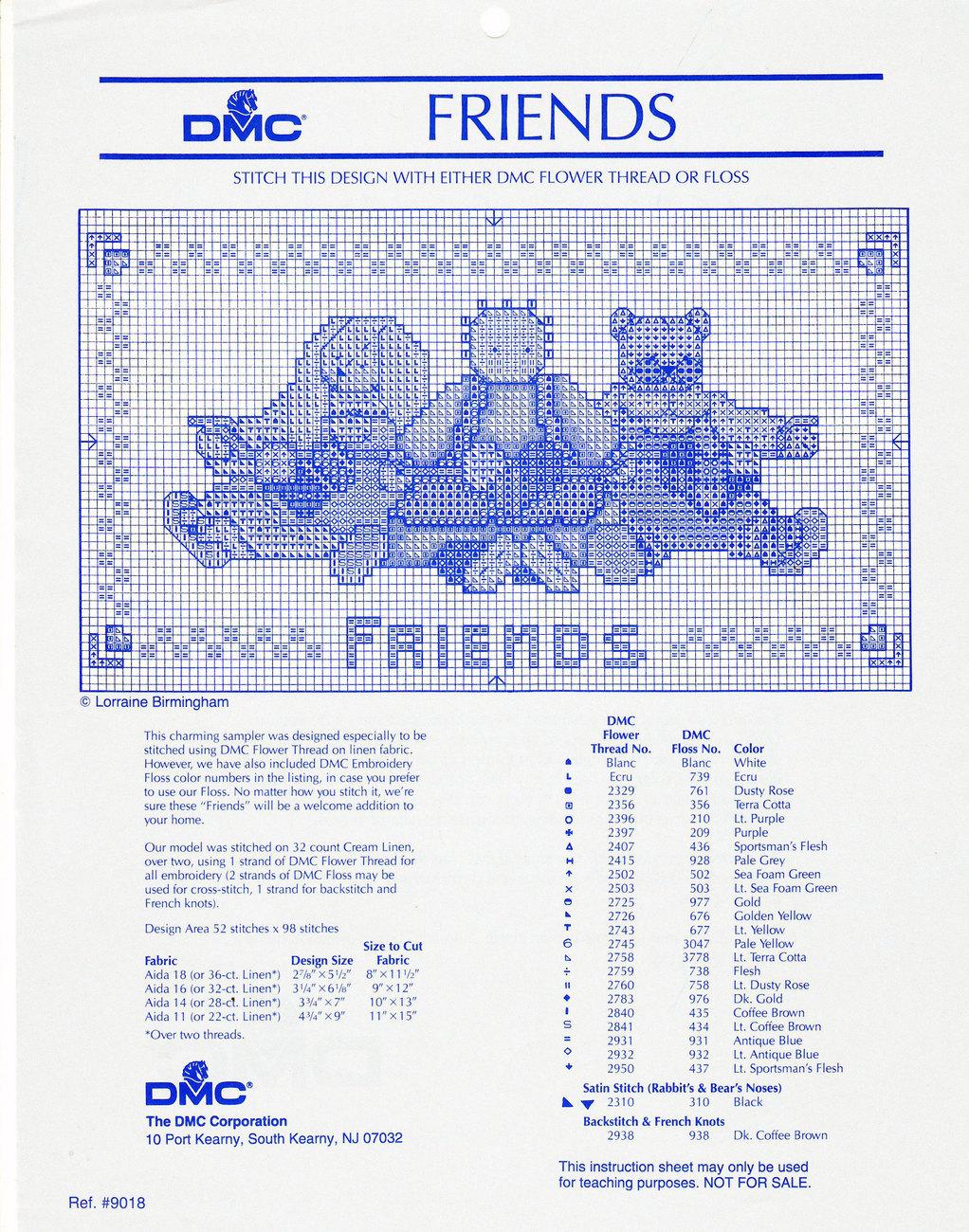 Dmc cross stitch pattern 1 customer review and 40 listings counted cross stitch dmc chart friends freebie nvjuhfo Images