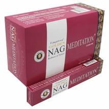 Golden Nag Meditation Incense Sticks Agarbatti Natural Fragrance 12 Pack of 15g - $19.41