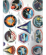 Space Shuttle decals 6 sheets RARE set 6 die cut decal litho printed sheets - $156.32