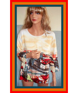XL ELIZABETH NY   ALL OVER OLD CITY SCENE SWEATER PULLOVER  T SHIRT TOP... - $17.16