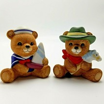 Homco Bears #1417 Playtime Blue Sailor Scout Cowboy with Pony Porcelain ... - $10.80