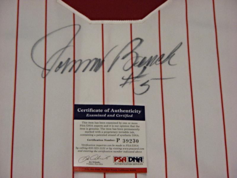 JOHNNY BENCH #5 HOF 1989 2X NL MVP CINNCINNATI REDS SIGNED AUTO JERSEY PSA/DNA