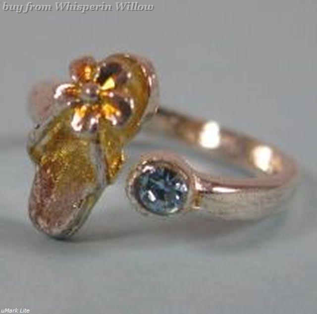 Blue Crystal Sandal Toe Ring