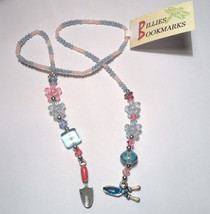 Gardening Spade Clippers Charms Beaded Bookmark - $10.00