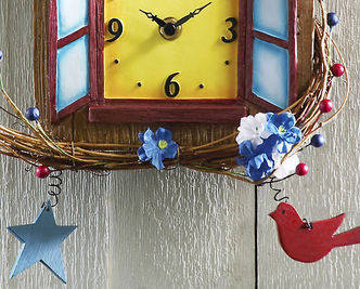 Country Birdhouse Battery Wall Clock