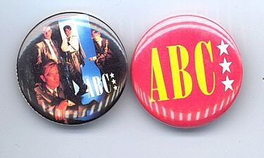 ABC Pinback Buttons 2 Different near MINT