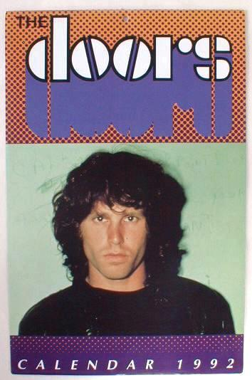 The DOORS Jim Morrison 1992 Photo Calendar Still Sealed