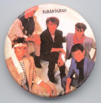 Primary image for DURAN DURAN GROUP PINBACK BUTTON 1980's