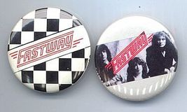 FASTWAY Pinback Buttons 2 Different near MINT - $9.98