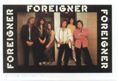 FOREIGNER 1980 Mini-Poster Photo Sticker