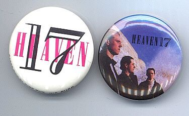 HEAVEN 17 Pinback Buttons 2 Diff. near MINT
