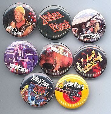 JUDAS PRIEST 1980-82 Pinback Buttons 8 Different