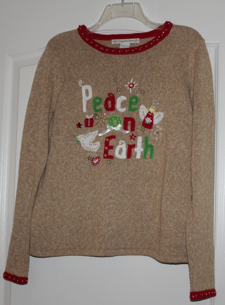Carly Saint Clair Ladies Christmas Sweater Size Small