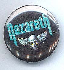 Nazareth 1980's Pinback Button near Mint