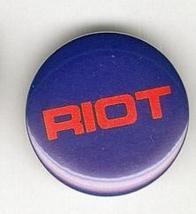 Riot 1982 Pinback Button near Mint - $4.98