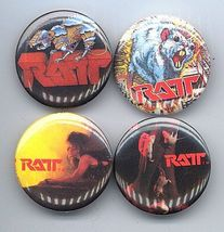 RATT Pinback Buttons 4 Different near MINT - $9.98