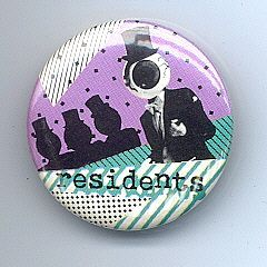 RESIDENTS Pinback Button near MINT