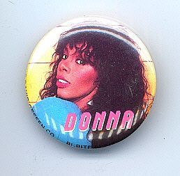 Primary image for DONNA SUMMER Pinback Button 1982 near MINT