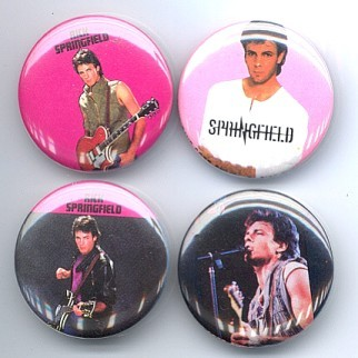 Primary image for RICK SPRINGFIELD 1982 Pinback Buttons 4 Different