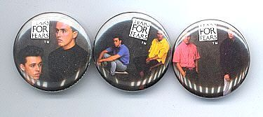 TEARS FOR FEARS 1985 Pinback Buttons 3 Different