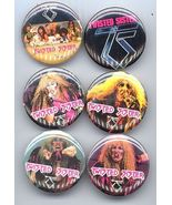 Twisted Sister 1984 Set of 6 Pinback Buttons - $12.98