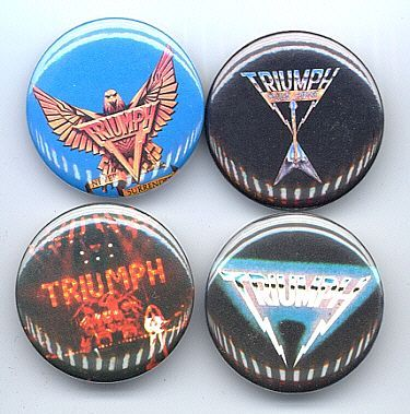 Primary image for TRIUMPH Pinback Buttons 4 Different near MINT