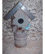 Garden Stake Bird house Handcrafted old porch post-#4 - $12.50