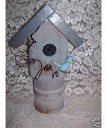 Garden Stake Bird house Handcrafted old porch p... - $12.50