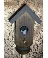 GARDEN STAKE- Bird house theme/ from old porch post - $12.00