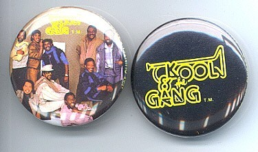 KOOL AND THE GANG 1985 Pinback Buttons 2 Different