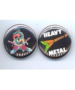 HEAVY METAL Pinback Buttons 2 Different 1982-83 - $7.98
