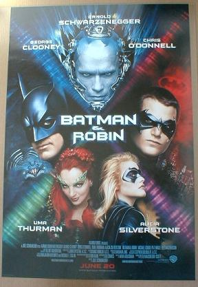 BATMAN & ROBIN MOVIE POSTER 1997 near MINT SEALED
