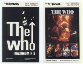 THE WHO 1980 & 1983 Postcard Stickers 2 Different - $6.98