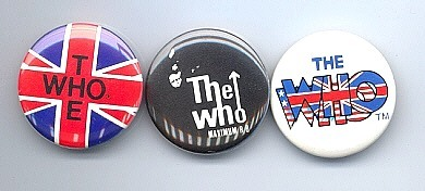 THE WHO 1980-83 Pinback Buttons 3 Different
