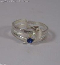 Dolphin With Blue Crystal Toe Ring - $9.99