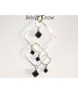 Jet Crystal & Argentium Sterling Silver Necklace - $42.99