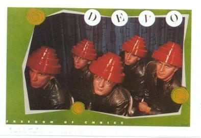 DEVO 1980 Mini-Poster Photo Sticker near MINT