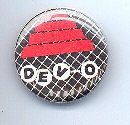 DEVO Pinback Button near MINT