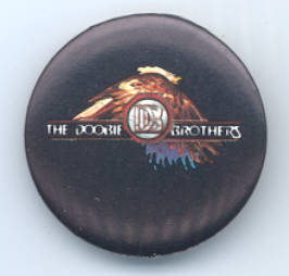 DOOBIE BROTHERS Pinback Button 1982 near MINT