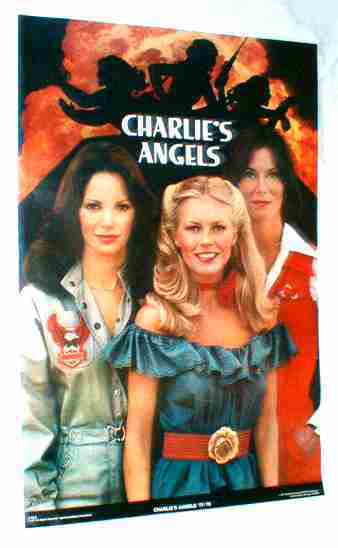 CHARLIE'S ANGELS Original 1977-78 Poster near MINT