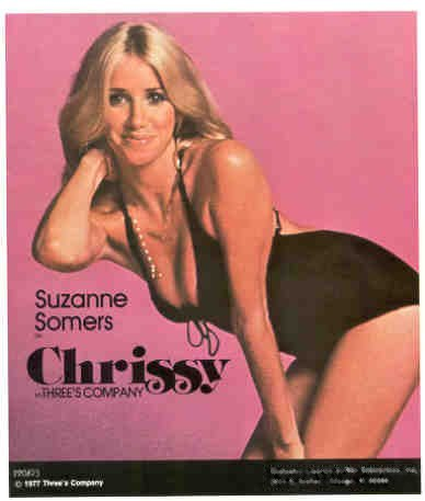 SUZANNE SOMERS as Chrissy 1977 Poster Put-On Sticker